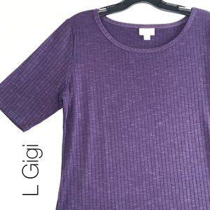 LuLaRoe L Gigi Purple NWT